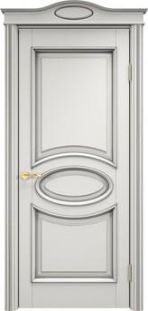 Дверь ОЛ 26 Грунт патина серебро микрано