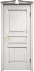 Дверь Д 5 Белый грунт патина серебро микрано