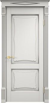 Дверь ОЛ 6.2 Грунт патина серебро микрано