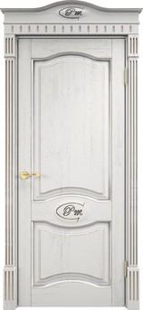 Дверь Д 3 Белый грунт патина серебро микрано