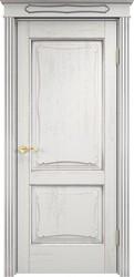 Дверь Д 6/2 Белый грунт патина серебро микрано