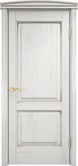 Дверь Д 13 Белый грунт патина серебро микрано