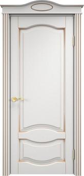 Дверь Ольха 33 Белый грунт патина золото
