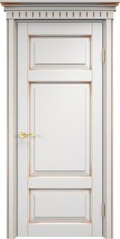 Дверь ОЛ 55 Белый грунт патина золото