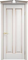 Дверь ОЛ 102 Белый грунт патина золото
