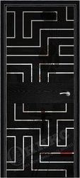 Дверь Соло 2 Черная эмаль патина рисунок Лабиринт