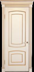Межкомнатная дверь Альверо Елена, Белый Бук с Золотом