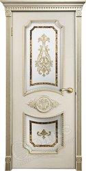 Дверь остекленная Империя патина золото