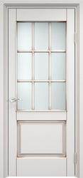 Дверь остекленная  ОЛ 117/2 Белый грунт патина орех