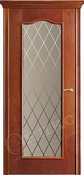 Дверь остекленная Классика 2 Красное дерево