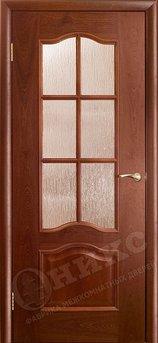 Дверь Остекленная Классика Красное дерево