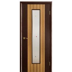 Межкомнатная дверь Оникс Комби Зебрано со стеклом