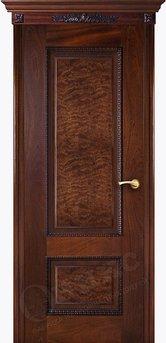 Дверь Марсель С декором Красное дерево патина