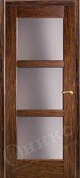 Дверь остекленная квадро эбен