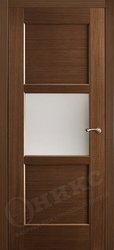 Дверь остекленная квадро орех