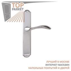 Ручка дверная на пластине Laguna 132/131 Полированный хром