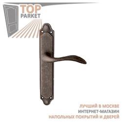 Ручка дверная на пластине Laguna 132/158 Античное серебро