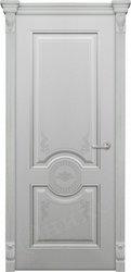 Дверь Лувр Серая эмаль