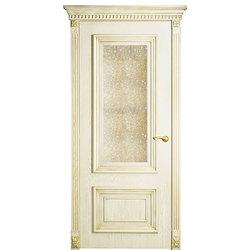 Дверь Оникс Мадрид с состаренным зеркалом