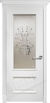 Дверь остекленная Марсель Эмаль белая