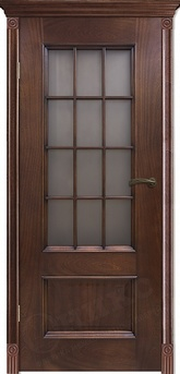 Дверь остекленная Марсель Красное дерево резная решетка