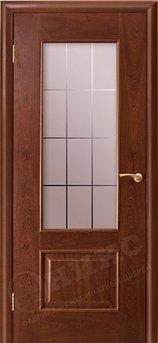 Дверь остекленная Марсель Красное дерево