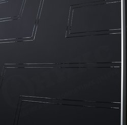 Дверь Соло 2 Черная эмаль патина гравировка