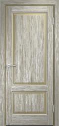 Дверь Мадера  Винтаж 13 Браш Мох патина серебро
