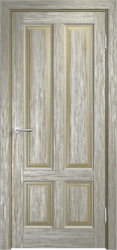 Дверь Мадера  Винтаж 15 Браш Мох патина серебро