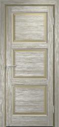 Дверь Мадера  Винтаж 17 Браш Мох патина серебро