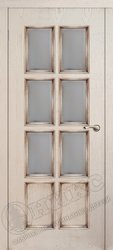 Дверь остекленная неаполь патина