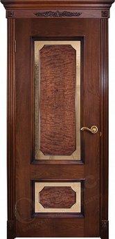 Дверь Оникс красное дерево патина со шпоном корень