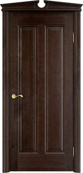 Дверь ОЛ 102 Темный орех 15%