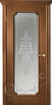 Дверь остекленная Палермо 2 орех