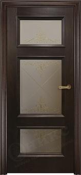 Дверь остекленная Прованс Палисандр контурный витраж