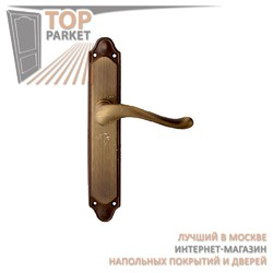 Ручка дверная на пластине Palma 129/158 Матовая бронза