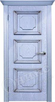 Дверь Пальмира эмаль голубая с патиной