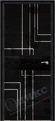 Дверь Соло 2 Черная эмаль патина рисунок Полоски