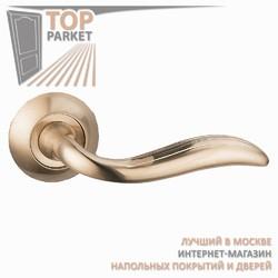 Ручка дверная на круглой накладке Passado A-35-10 Матовое золото