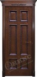 Дверь остекленная Гранд красное дерево черная патина