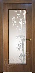 Дверь остекленная турин орех стекло пескоструй