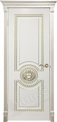 Дверь Цезарь фрезерованное патина золото