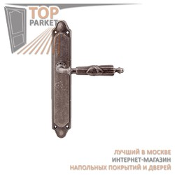Ручка дверная на пластине Praga 282/158 Античное серебро