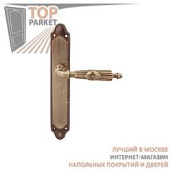 Ручка дверная на пластине Praga 282/158 Матовая бронза