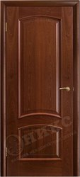 Дверь Остекленная Прага Красное дерево
