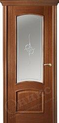 Дверь Остекленная Прага Орех печать на сатинате