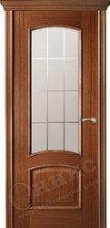Дверь Остекленная Прага Орех