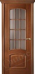 Дверь Остекленная Прага Орех Решетка