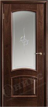 Дверь Остекленная Прага Палисандр печать на сатинате