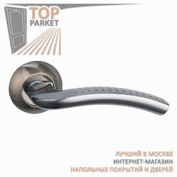 Ручка дверная на круглой накладке Pratico A-09-10 Античная бронза